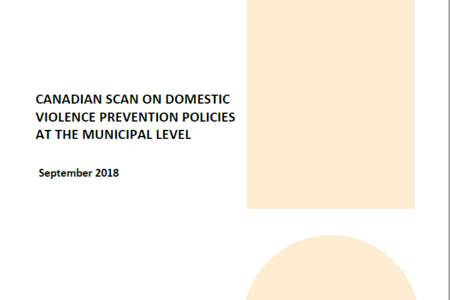 Canadian Scan on Domestic Violence Prevention Policies at the Municipal Level
