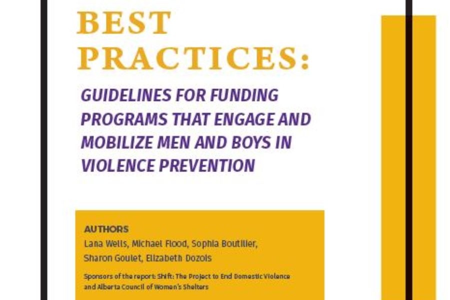 Supporting Best Practices: Guidelines for Funding Programs That Engage and Mobilize Men & Boys in Violence Prevention